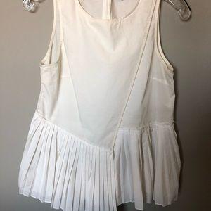 White 10 Crosby Derek Lam pleated blouse